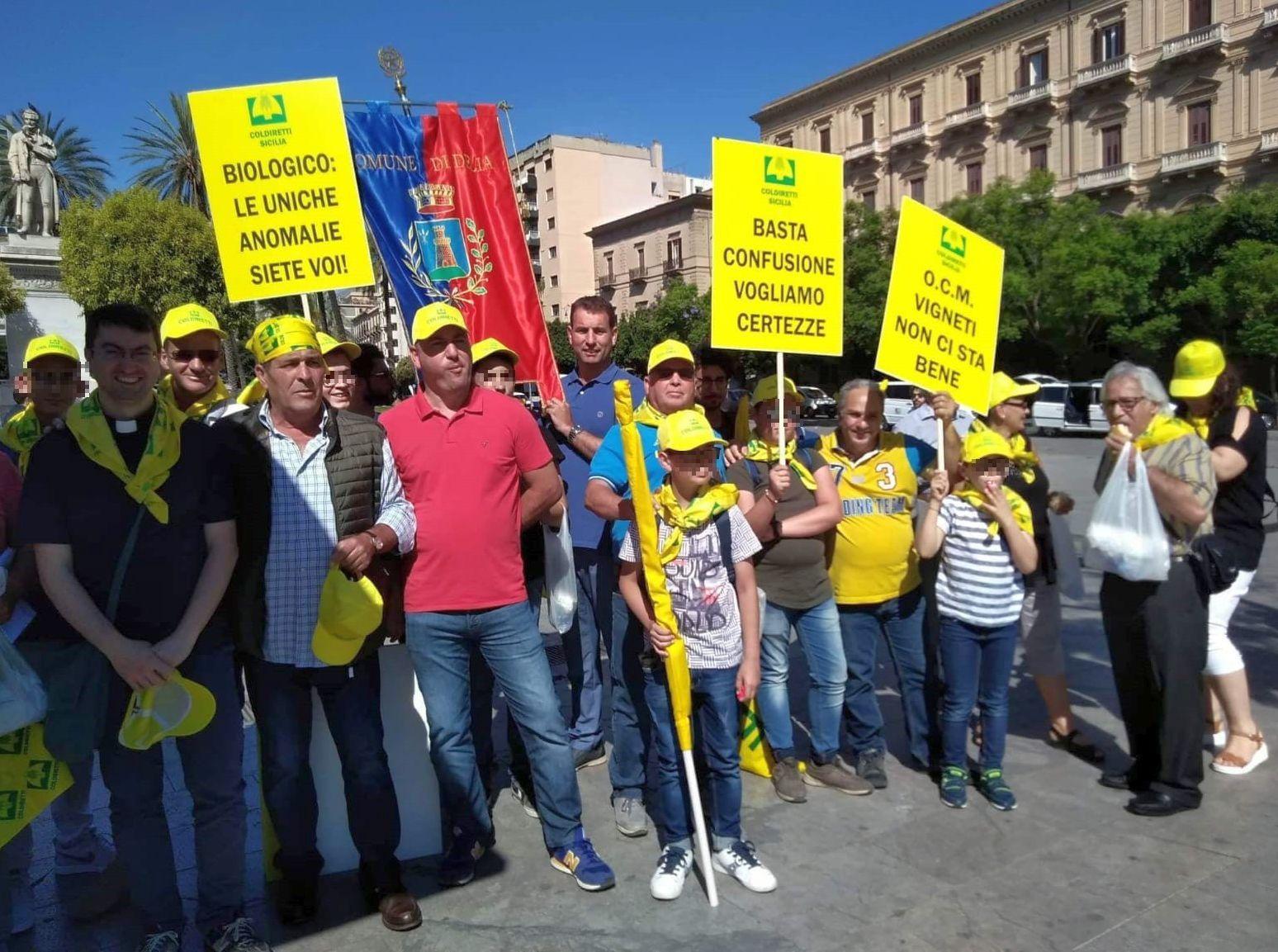 Gallo con agricoltori a Palermo