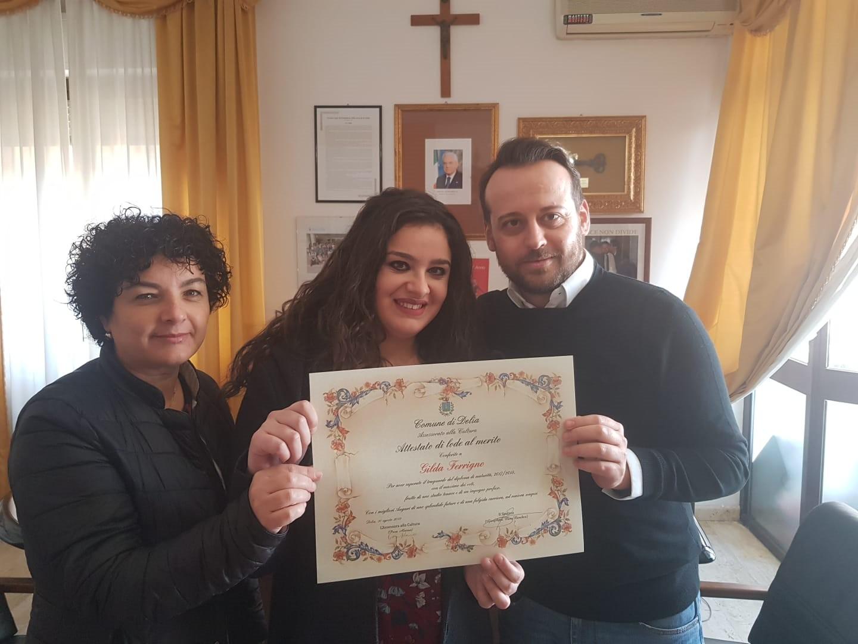 Premiazione di Gilda Firrigno