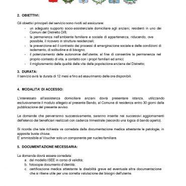 Avviso Assistenza Domiciliare Anziani Pdz 2018-19-002
