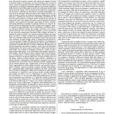 Disciplinare di produzione definitivo della Pesca di Delia I.G.P.-003