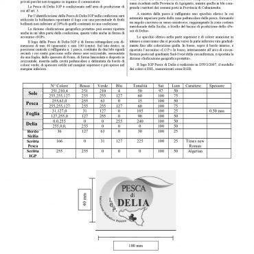 Disciplinare di produzione definitivo della Pesca di Delia I.G.P.-004
